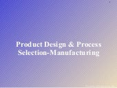 Product Design & Process Selection ...