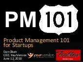 Product Management 101 for Startups