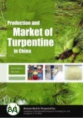 Production and Market of Turpentine in China