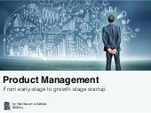 Product management from Early Stage to Growth Stage Startup