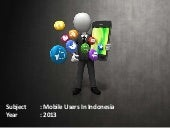 Mobile Users in Indonesia
