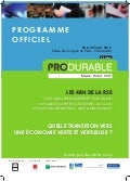 Produrable  programme officiel 2012