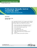 Professional Mosquito Control Insecticides 2011: U.S. Market Analysis and Opportunities - Brochure