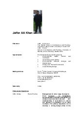 Jaffer AA Khan Architect