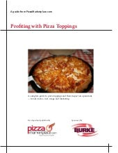 Profiting From Pizza Toppings