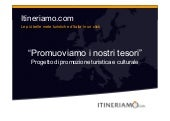 Progetto marketing itineriamo