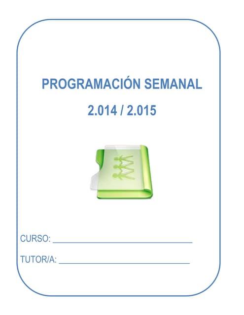 Programación semanal 2014 2015