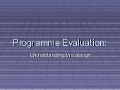 Programme Evaluation in Open and Di...