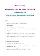 Prohibitions That Are Taken Too Lig...