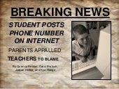 """Student Posts Phone Number on Inte..."