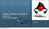 Project Lambda in Java SE 8