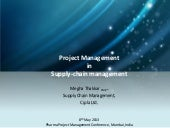 Project management in Supply Chain