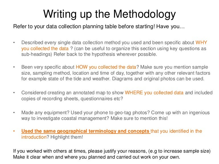 How to write methodology in dissertation