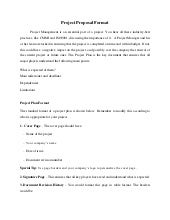 How to write a project proposal for university