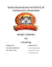Project report on e banking