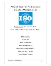 Project Report on ISO