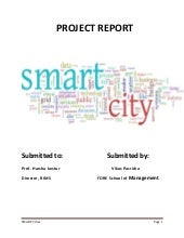Project Report on Indian Smart Cities & Smart Education