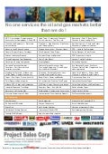 Project Sales Corp  Updated Line Card   Oil & Gas