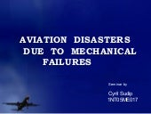 Aviation disasters due to mechanica...