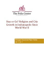 Stay or go? Religion and city growt...