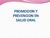 Promocion en salud oral.power point