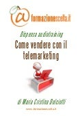Come Vendere Con Il Telemarketing - estratto dispensa audiotraining