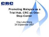 Promoting Malaysia As A Trial Hub C...