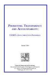 Promoting transparency and accounta...