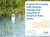 Proof of Concept for Hadoop: storage and analytics of electrical time-series