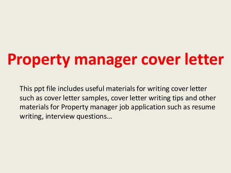 sample property management cover letter