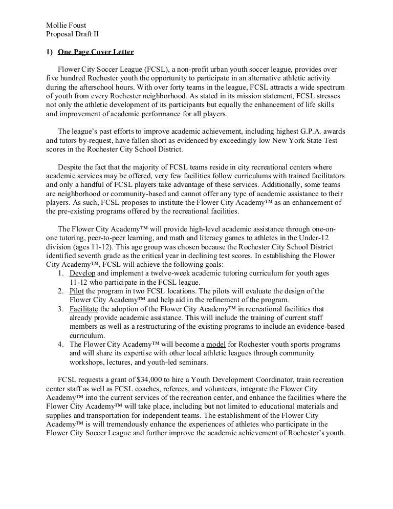 Doc585615 Sample Funding Proposal Funding Proposal Template – Non Profit Proposal Template