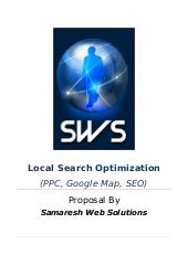 Proposal On Ppc,Google Map & Or...