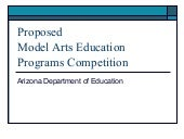 June 20 AZ Arts Ed Meeting - Propos...