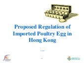 Proposed Regulation for Imported Poultry Egg in Hong Kong_2015
