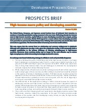 Prospects brief high income macto policy and developing countries
