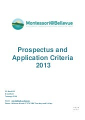 Prospectus & application_criteria_2013
