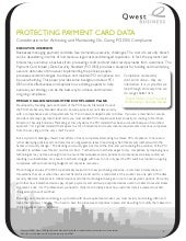 Protecting Payment Card Data Wp091010
