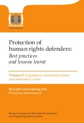 Protection of human rights defender...