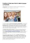 ProtiPlus CIPIACCIAMO, la prima Dieta di Gruppo Online