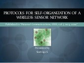 Protocols For Self Organisation Of ...