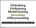Innovation med prototyping från #sswc 2011