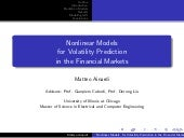 Nonlinear Models for Volatility Pre...