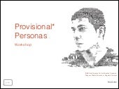 Provisional Persona Workshop 1.0