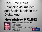 Real-Time Ethics: Balancing Journal...