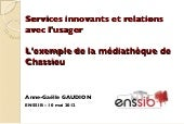 Services innovants et relations à l...