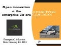 Open Innovation at the Enterprise 2.0 era