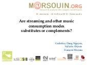 Are streaming and other music consu...