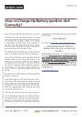 Prsync.com how-to-charge-hp-battery-pavilion-dv4-correctly-