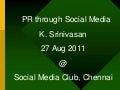 Pr through social media 270811