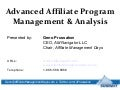 Advanced Affiliate Program Management